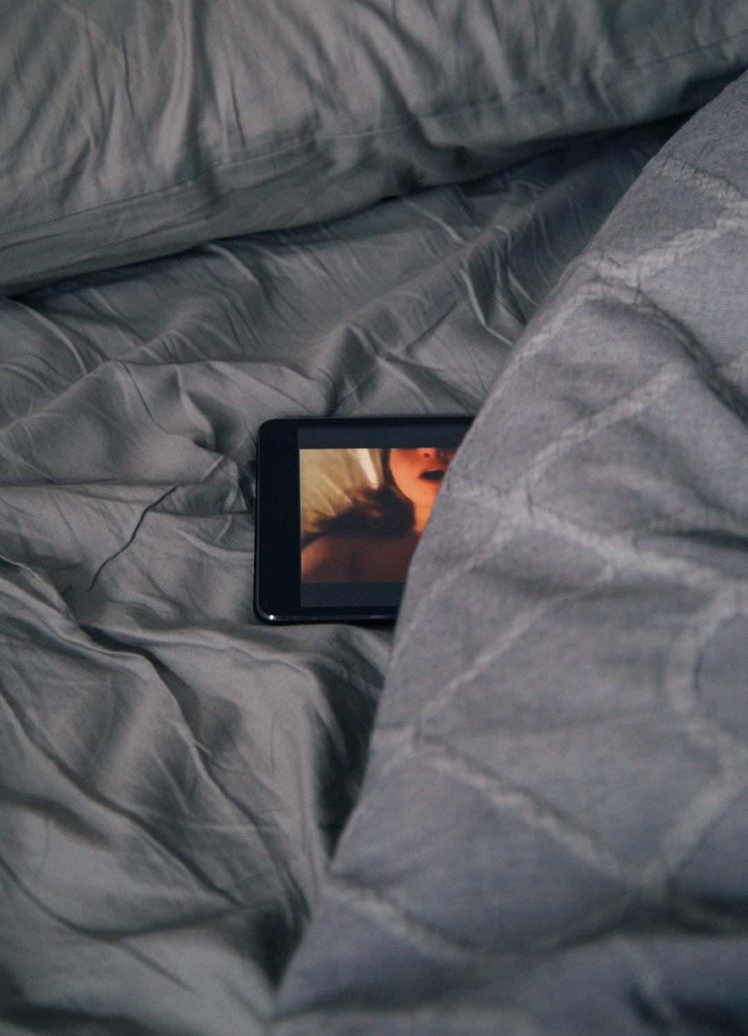 tablet on bed