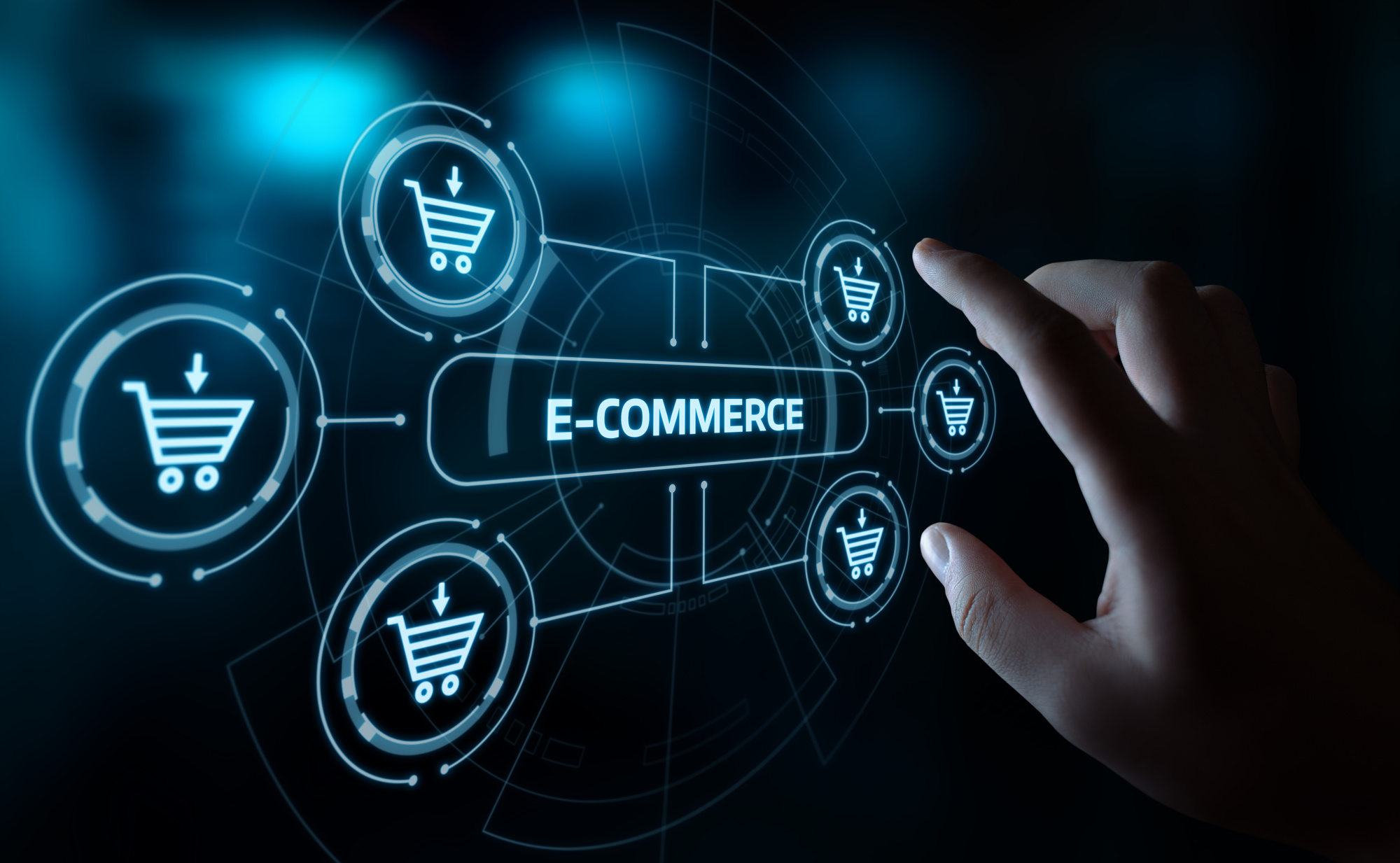ecommerce icons and text