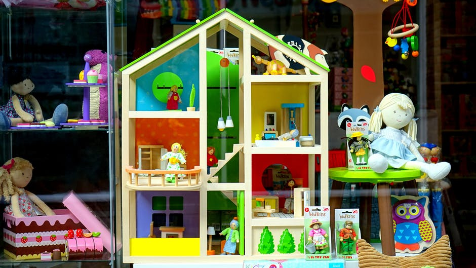 toys and dollhouse