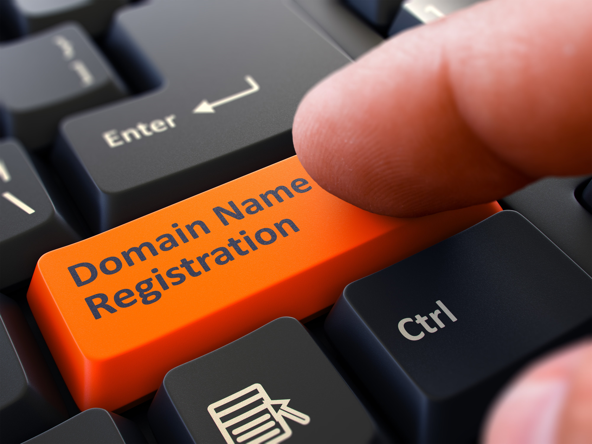 domain name registration button