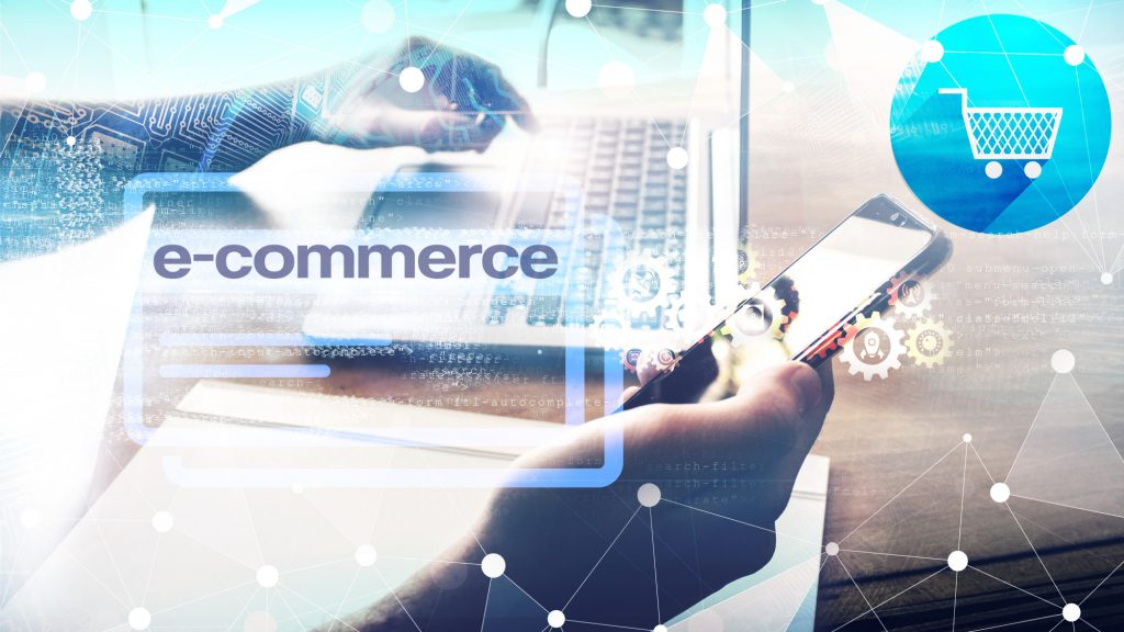 e-commerce text and graphics