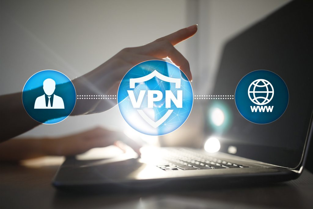 vpn text and icons