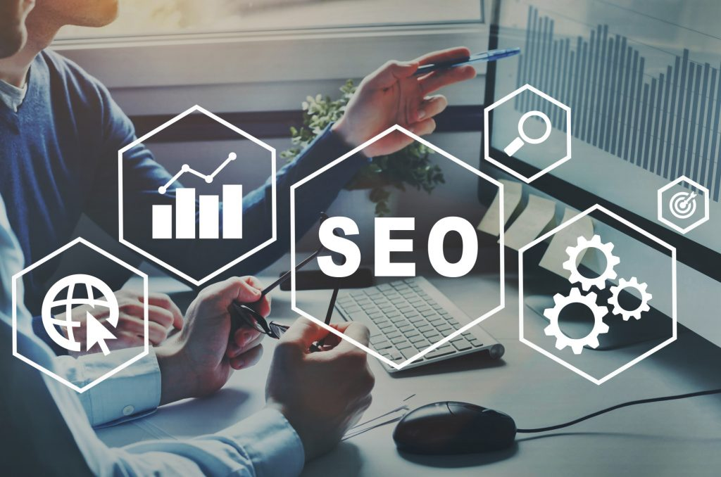 SEO text and icons