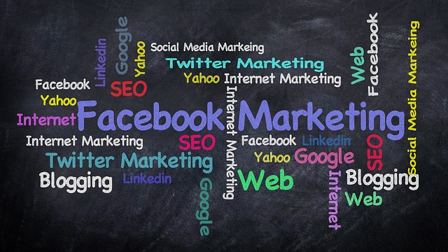 facebook marketing and related text
