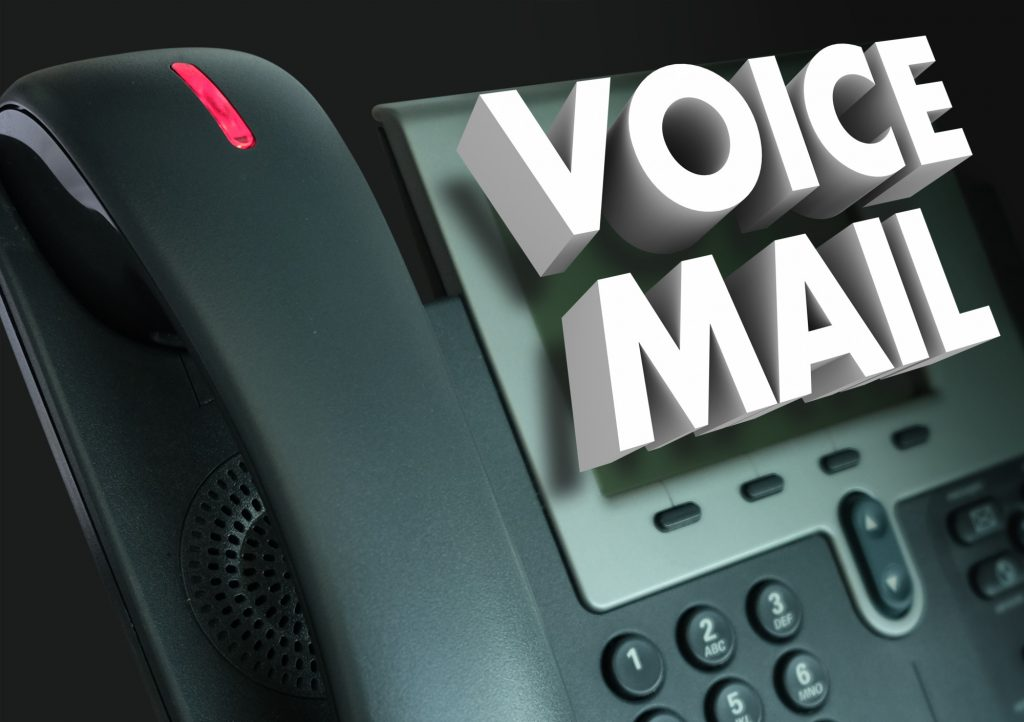 voice mail text on phone